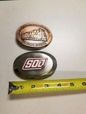 Vintage Canadian Pacific & SOO Lines Railroad Belt Buckles, Railroad Collectible