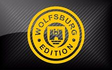 2x VW 'WOLFSBURG EDITION' car stickers decals - 24 colours! -  great present!