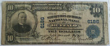 1902 Series BUFFALO NY $10 Bill HORSEBLANKET National Currency Banknote CH# 6186