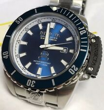 New Mens Invicta Cruise Line Blue Dial Diver Swiss Casual Crown Guard Watch