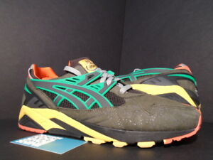 Asics GEL-KAYANO TRAINER LYTE CHARCOAL GREY YELLOW GREEN RED PACKER SHOES 11