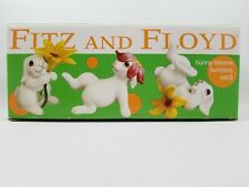 Fitz and Floyd Bunny Blooms Tumblers Set of 3  2002