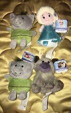 4X Disney Frozen Troll Elsa Sven Mini Bean Plush 5 inch Lot by Just Play Llc