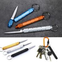 Portable Outdoor Travel Folding Blade Pocket Knife Key Chain Ring Letter Opener