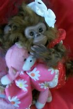 Reborn Monkey Baby girl artist doll Ape Chimp Chaz orangutan Animal Hybrid Ooak