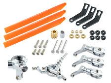 Microheli Cnc Aluminum/Plastic Triple Orange Blade Conversion set - Blade 180Cfx