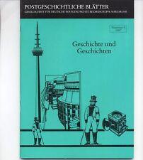 Postgesch. Blätter KARLSRUHE -Nr.5/1987- Die Post in RHEINHAUSEN + WALDFISCHBACH