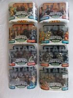 Star Wars Galactic Heroes Lot of 8 Jawa/Tusken Raider/Solo/Leia, Plus! Unopened