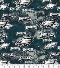 NFL Philadelphia Eagles DISTRESSED 100% Cotton Fabric 1/4 yd, 9