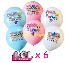 LOL Surprise Doll Theme Latex Balloons x 6 Party Decoration Girls Birthday