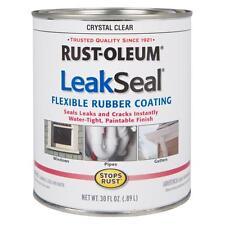 Rust-Oleum Clear Flexible Rubber Coating Sealer 2 Pack Waterproof Sealant Roof