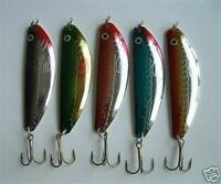 """5 NEW Assorted Spoon Metal Fishing Lure Bait Lot 3.75"""""""