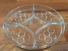 OLYMPIC SOUVENIR GLASS DIVIDED SERVING DISH OLYMPIC RINGS TORCH