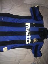 Zlatan Ibrahimovic Inter Milan Home Jersey Blue Size Small Men 2008 Authentic