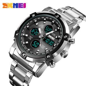 SKMEI Men LED Watches Steel Digital Sport Wristwatch Casual Business Male Watch