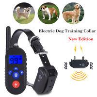 300M Ricaricabile Collare addestramento cani Vibrazione,Scarica,Antiabbaio,Suono