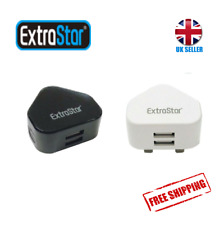 Fast Quick Charge Adapter UK Plug 2 port USB Hub Wall Charger For iPhone