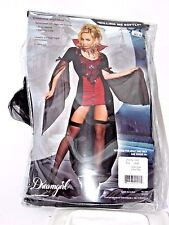 Size Large Women's Red & Black Vampire Costume Cosplay Halloween Party Sexy