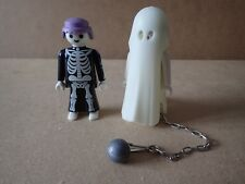 Playmobil Castle 3317 Glow In The Dark Ghost With Ball And Chain + Skeleton