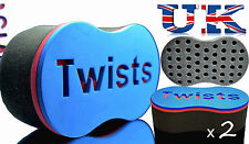 2 x Barber Twist And Coil Hair Curl Brush Sponge (Hard Strong Quality) Fast Post
