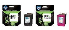 2 GENUINE HP INK CARTRIDGES 300XL HP COLOUR & 300 XL BLACK 1ST CLASS FASTPOSTAGE