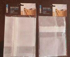 Zipped Laundry Washing Mesh Bags Net Socks Underwear Wash 25.5 x 30cm or 42 x 35