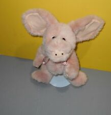 """Boyds Bears & Friends Pink Rosie O'Pigg Jointed Bean Plush Pig 11"""" Tall Retired"""