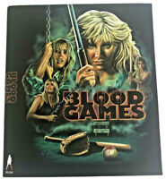 Vinegar Syndrome Blood Games Limited Ed Blu-Ray w/slipcover-exploitation-revenge