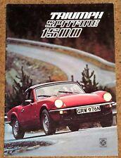 1974-75 TRIUMPH SPITFIRE 1500 Sales Brochure - Very Good Condition