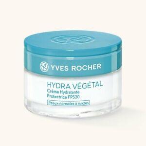 Yves Rocher HYDRA VEGETAL Protective Moisturizing Cream SPF20  50ml NIB EXP:2022