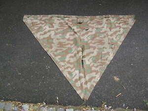 WW2 camouflage Zeltbahn TARN CAMMO SMOCK shelter raincoat poncho MARKED KASSEL