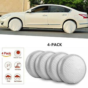 """4PCS 26"""" to 27'' Wheel Tire Covers Waterproof For RV Trailer Camper Car Truck"""
