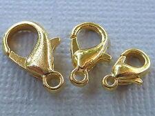 Karabinerverschluss Karabinerschließe Metall 10 12 14mm gold vergoldet 1263