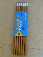 EF Eberhard Faber American No. 2 Pencils HB Real Wood Lead Package 12