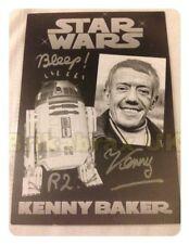 More details for actor kenny baker (star wars r2d2) : genuine autographed photo postcard - 6x4