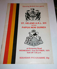 St Helens ARL XIII v Papua New Guinea 31st October 1979 Tour Match Knowsley Road