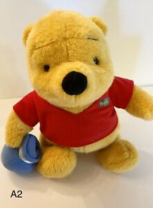 "Mattel Winnie the Pooh Plush 10"" 1994 Honey Pot Stuffed Animal Toy"
