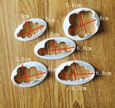 Set Cloud Cutters cookie cutter cake topper