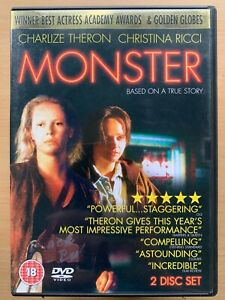 Monster DVD 2003 Aileen Wuornos Serial Killer w/ Charlize Theron Drama 2-Disc
