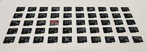 50 USED MICRO SD CARDS, ASSORTED BRANDS, 8GB