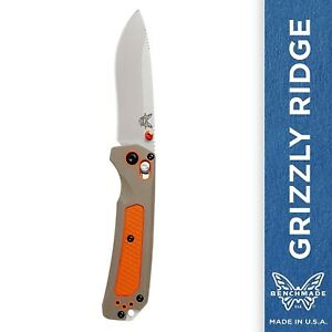 Benchmade Grizzly Ridge 15061 Knife Drop-Point Plain Edge AXIS Lock