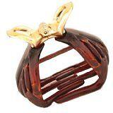 Caravan Non Metal Slip and Water Proof Patent Octopus Hairclip in Metalic Gold