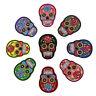 8x Aufnäher Totenkopf Applikation Skull Aufbügler Patches Applique Patch für
