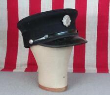 Vintage 1930s Firefighters Hat Visor Cap Emaus Fire Dept Co.1 Badge Emmaus,PA