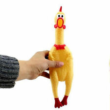 Screaming Rubber Chicken Squeaky Squeaker Pet Tough Dog Chew Treat Toy Gift New