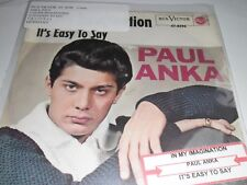 "Paul Anka In My Imagination b/w It's Easy To Say 7"" RCA Victor 47-8396 German"