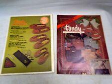 Vintage TANDY Leather Catalog 1976 Lot Leatherwork Belts Purse Wallets Slippers