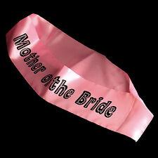 """Miss Behave """" Mutter der Braut """" pink Schärpe mit schwarz Schrift"""