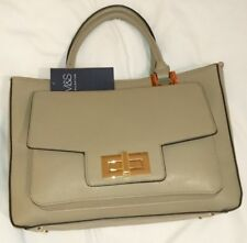 M & S Envelope Tote Bag Handbag Crossbody Shoulder Grey Bnwt