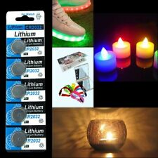 5PCS Lots CR2032 3 Volt Coin Button Cell Battery Watch Remote Nightlight